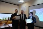 Вручение сертификата Шелмакову С.В. (МАДИ) и Галышеву А.Б. (МАДИ)