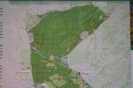 """Схема территории, где для связи мест обитания животных построены 2 """"зелёных моста"""""""